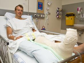 jorn Jensen - Tonga shark attack victim in Auckland Hospital