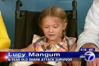 Lucy Mangum, 6, shark attack victim