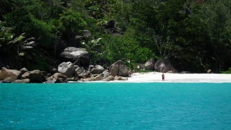 Anse Lazio, Seychelles - scence of two fatal shark attacks