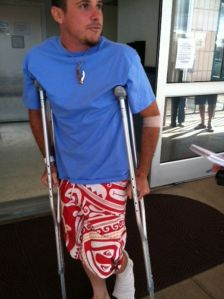 Joshua Holley was bitten on the foot by a shark while surfing on the North Shore of Oahu, Hawaii